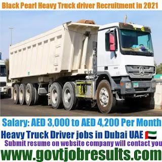 Black Pearl Heavy Truck Driver Recruitment 2021-22