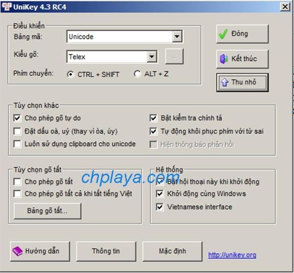 Tải Unikey mới nhất - Download Unikey 4.3 RC4 miễn phí về máy tính e