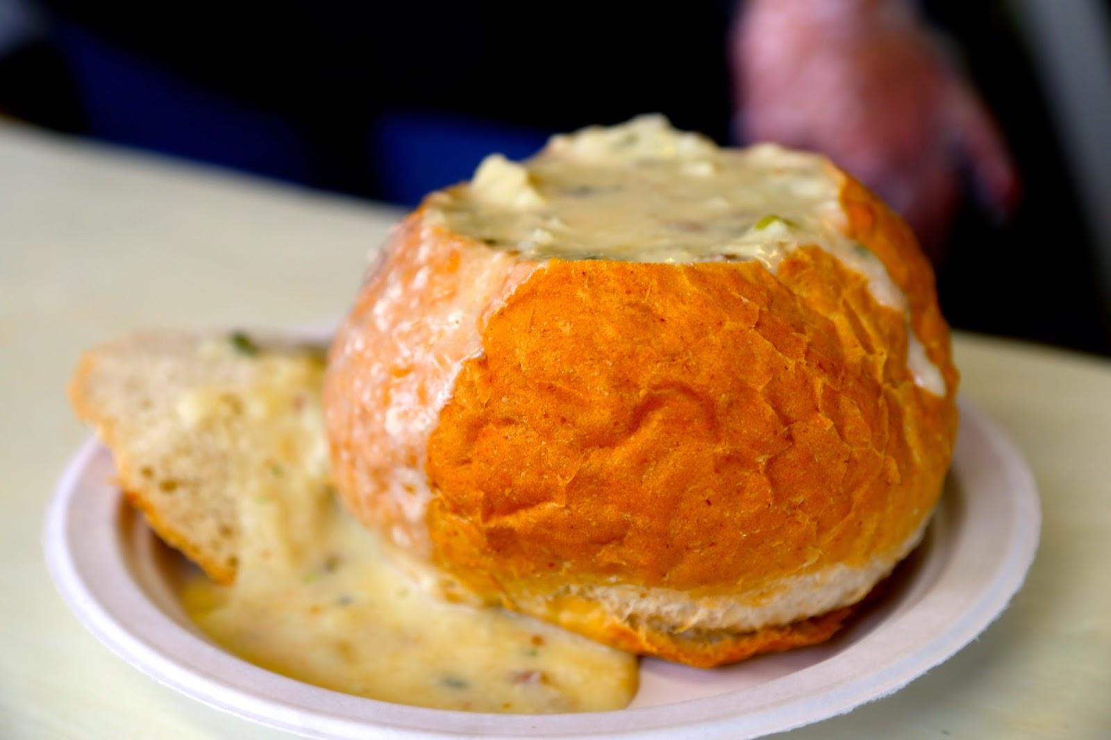 chowder in a bread bowl, Alaska State Fair