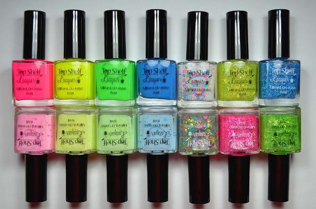 summer neon nail polish collection
