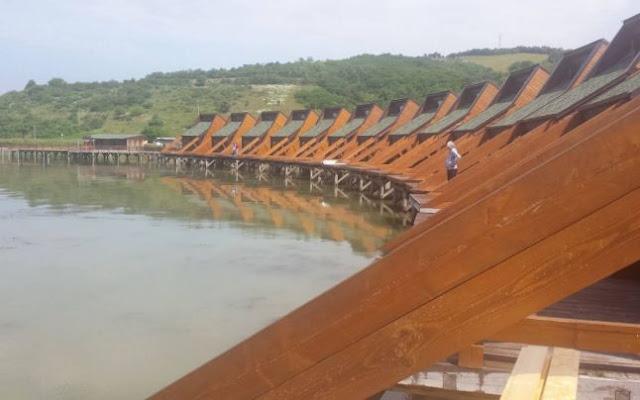 Bungalourile suspendate deasupra Dunării, de la Berzasca