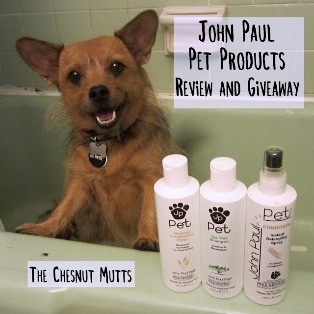 John Paul Pet Products Review and Giveaway The Chesnut Mutts