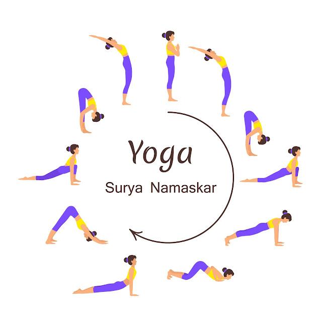 surya namaskar images