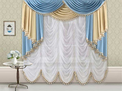 The best types of curtains and curtain design styles 2019, French curtains