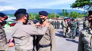 65 Personil Satgas Ops Madago Raya menerima kenaikan pangkat