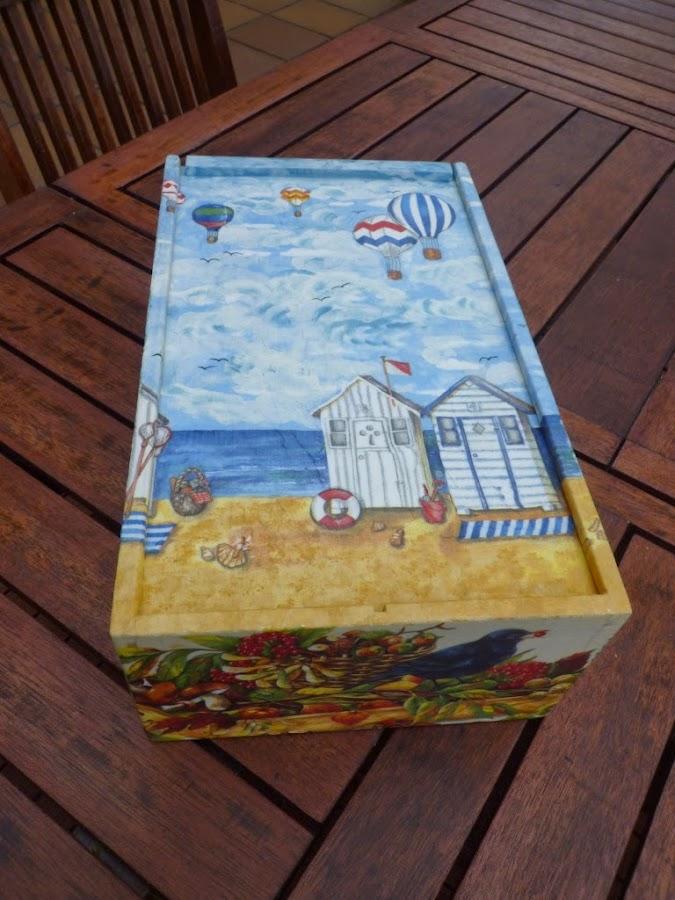 Reciclar caja de vino