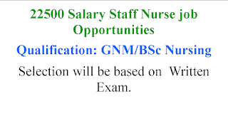 Staff Nurse Jobs with 22500 salary per month