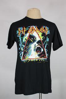 Vintage Def Leopard Hysteria t-shirt M/L mint 80s 1987 tour concert black 50/50
