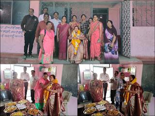 उत्कृष्ट उमावि तिरला द्वारा उपाध्याय मैडम के सम्मान में विदाई समारोह का आयोजन किया