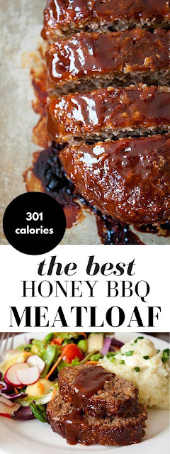 Honey Barbecue Meatloaf Recipe #beefrecipes #barbecue #meat