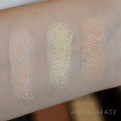 Свотчи светлых оттенков KAT VON D Shade Light Face Contour Refillable Palette