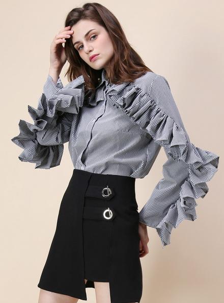 http://www.chicwish.com/ruffle-fantasy-gingham-shirt-in-black.html