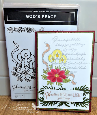 God's Peace, Christmas Cards, Beautiful Boughs dies, Brightly gleaming DSP, 2019 Holiday Catalogue, Stampin' Blends, Rhapsody in craft, #loveitchopit, Heart of Christmas