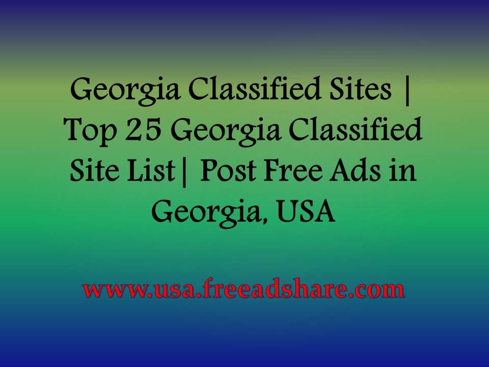Georgia Classified Sites   Top 25 Georgia Classified Site
