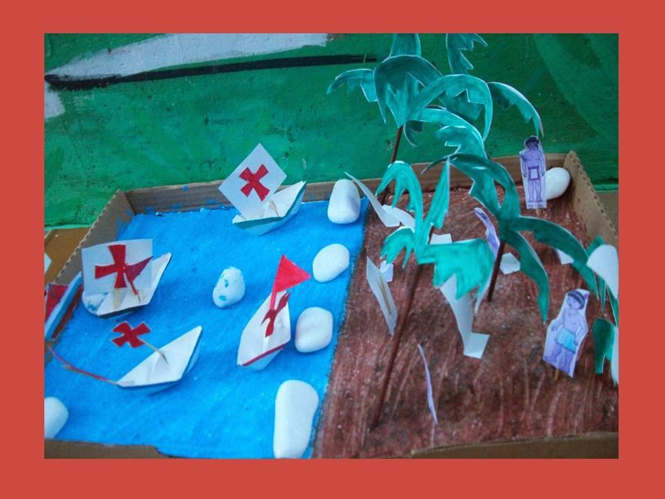 Escola Manancial: Maquete do Descobrimento do Brasil