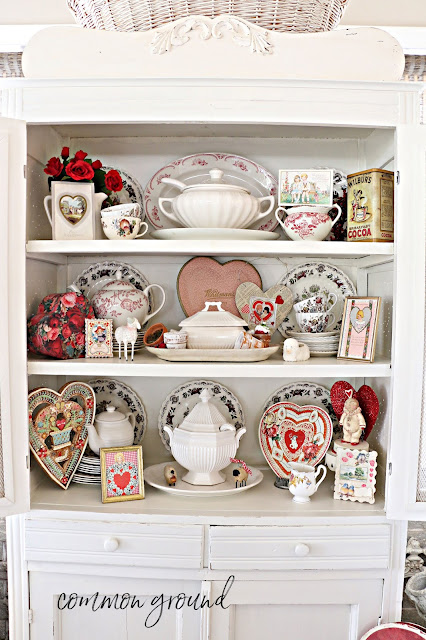 Valentines Day holiday cupboard