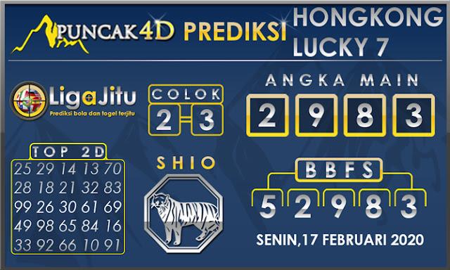 PREDIKSI TOGEL HONGKONG LUCKY7 PUNCAK4D 17 FEBRUARI 2020
