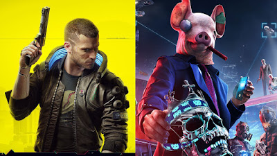 Cyberpunk 2077 vs Watchdogs Legion logo Alt