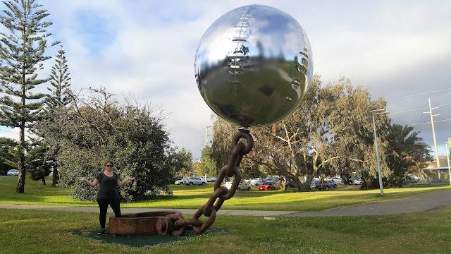 BIG Ball & Chain by Norton Flavel | Cottesloe Public Art