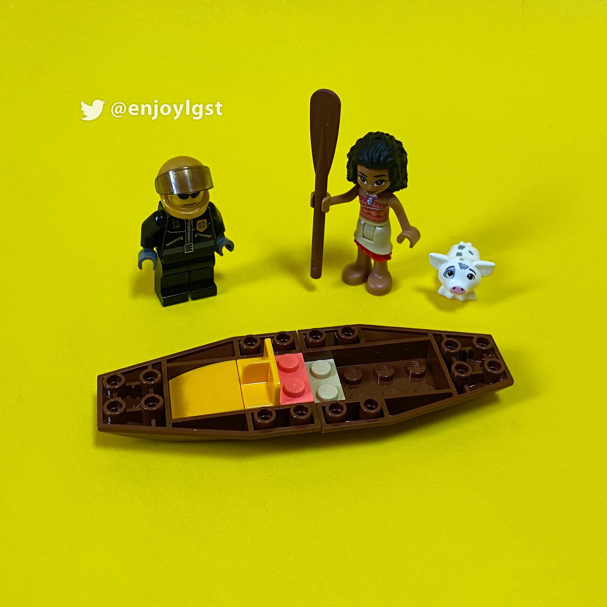 レゴレビュー:43170 モアナの海の冒険:暑い夏に作ると涼しくなれる海セット