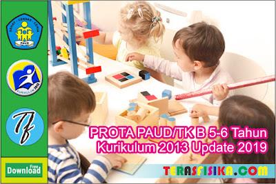 PROTA PAUD TK B (5-6 Tahun) K13 Semester 1 dan 2