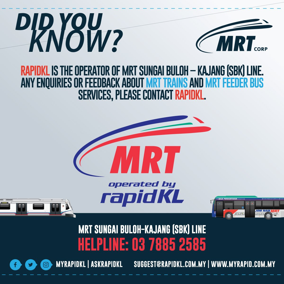 contact mrt station rapidkl