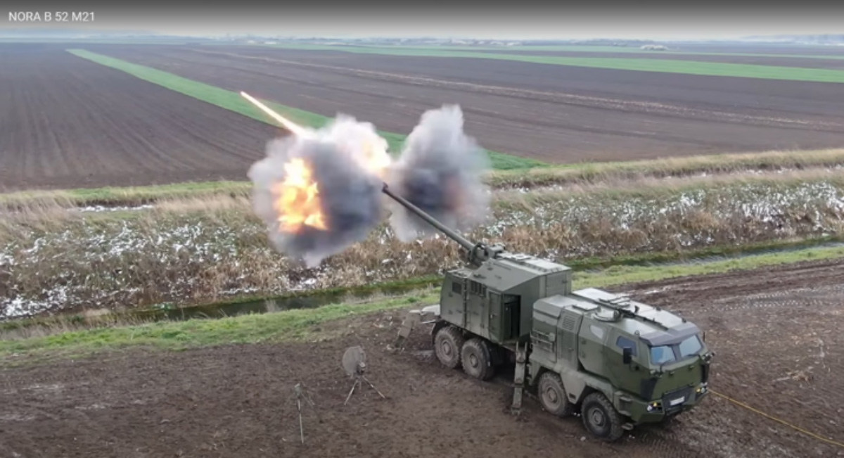 GO Successfully Test-Fires Upgraded 155mm Mobile Howitzer NORA B-52 M21