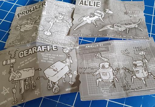 Hexbug Trash bots build instructions