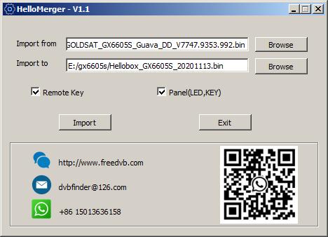 Download Hello Merger Aplikasi Edit Remote Panel Receiver GX6605S