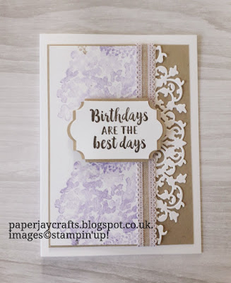 Beautiful Friendship, Delicate Lace Dies, Birthday Card, Stampin Up
