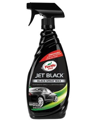JET BLACK Black Spray Wax (Turtle wax)