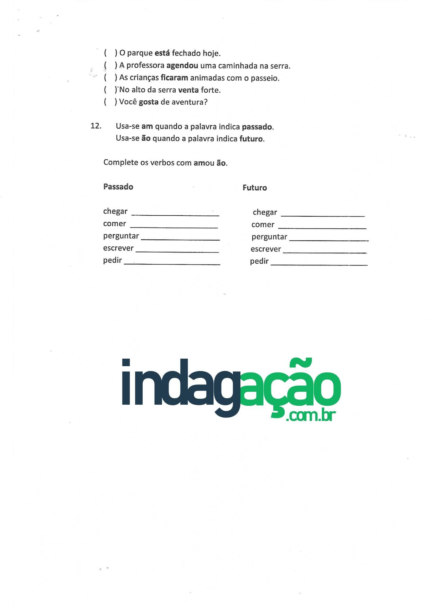 Atividade Português Gênero Textual, Lenda, Substantivo, Adjetivo e Verbo - Ensino Fundamental