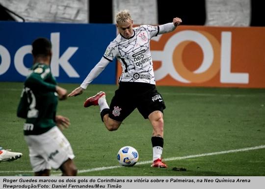 www.seuguara.com.br/Roger Guedes/Corinthians/Brasileirão 2021/22ª rodada/