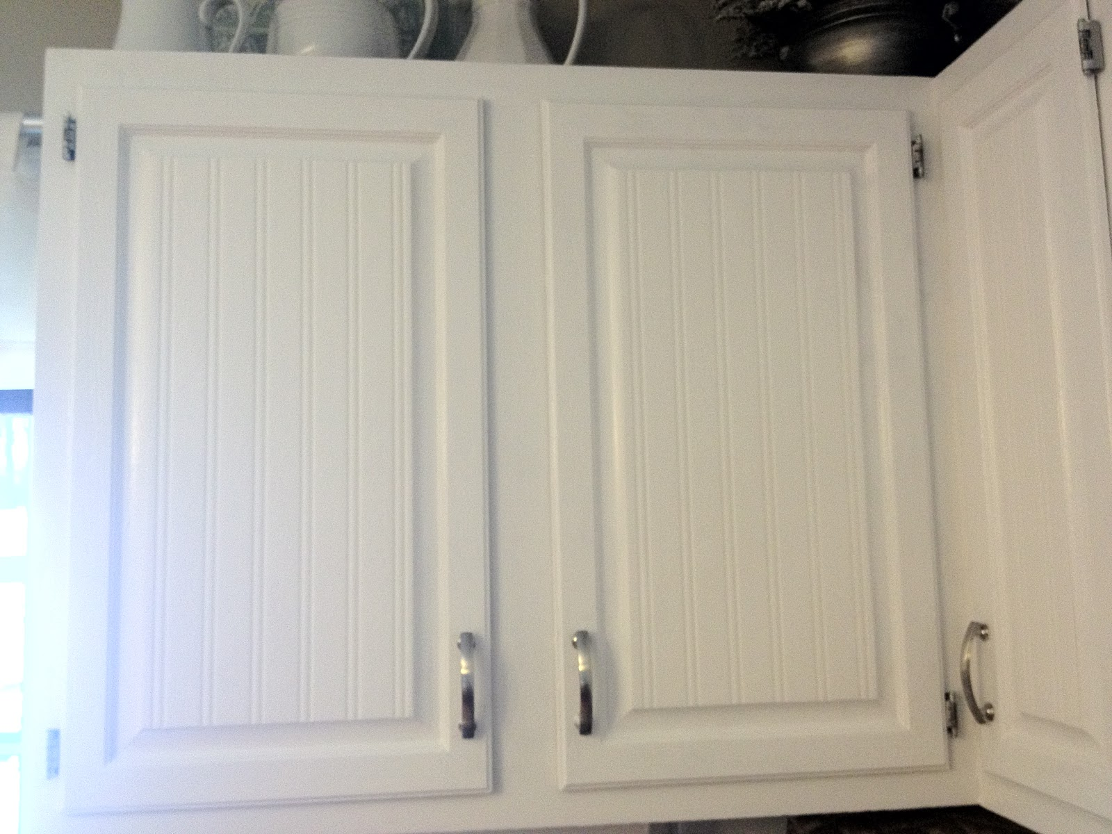 White Beadboard Kitchen CabiDoors