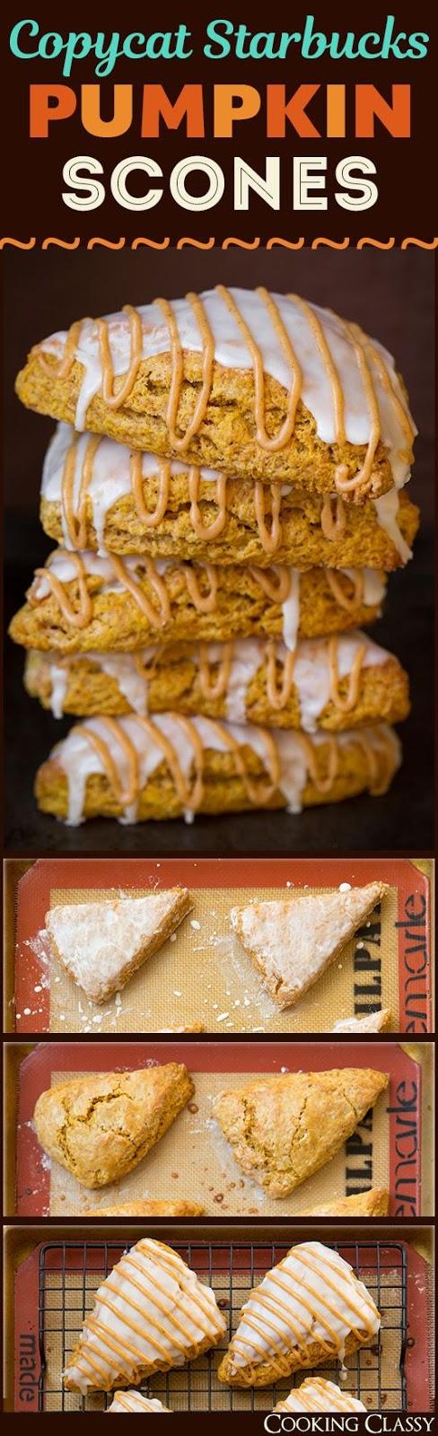 Pumpkin Scones {Starbucks Copycat}