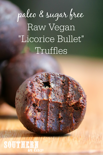 Raw Vegan Licorice Bullet Truffle Bites Recipe - raw, paleo, vegan, gluten free, chocolate covered licorice, healthy, sugar free