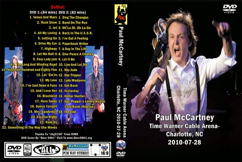 Paul McCartney 2010 07 28 Time Warner Cable Arena Charlotte NC