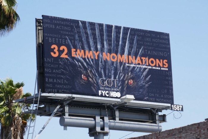 GOT final season 32 Emmy nominations billboard