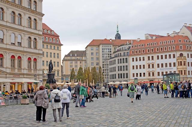 pocztówkowy widok na Drezno, serce miasta, widok