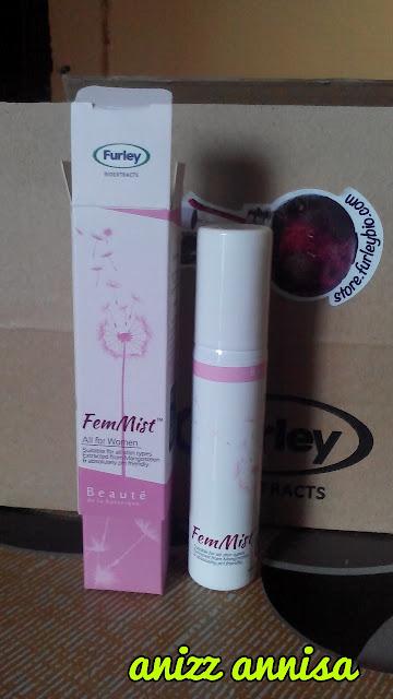 feminine mist wash, femist, furley bioextract, segarkan bahagian intim, furley bioextract product,