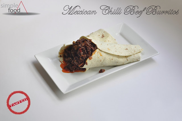 Mexican Chilli Beef Burritos ~ Simple Food