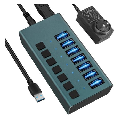 EKSA Store USB 3.0 Hub -7 Ports Powered