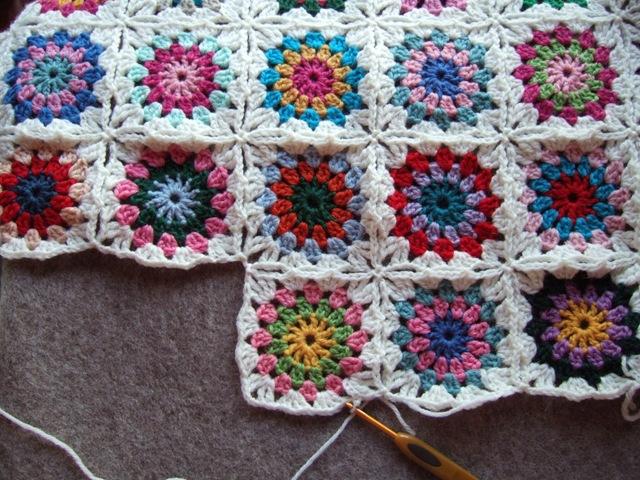 mes favoris tricot crochet mod 232 le crochet gratuit le plaid flowers in the snow