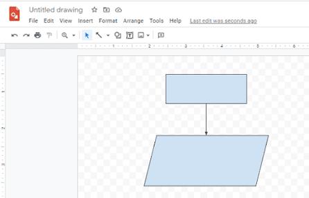 aplikasi pembuat flowchart online - google drawings