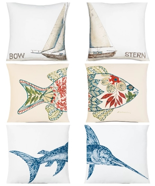 Sets of Nautical Matching Pillow Pairs