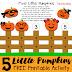 Five Little Pumpkins Printable Activity