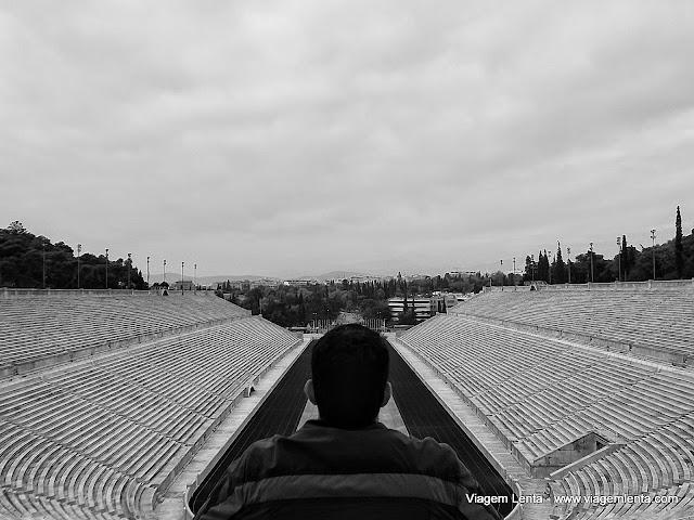 A beleza do Estádio Paratenaico em Atenas