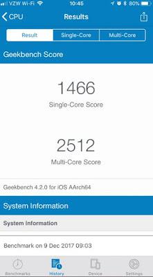 hasil benchmark iphone sebelum ganti baterai