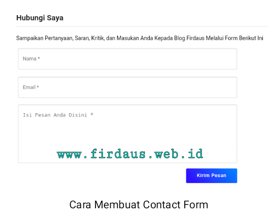 Cara Membuat Contact Form Simple