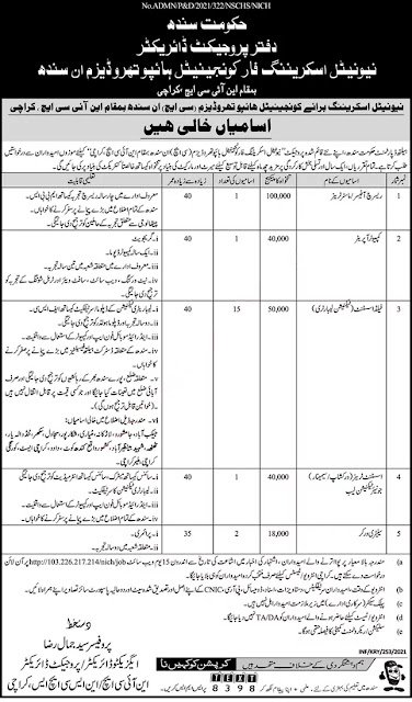 Latest Government Jobs in National Institute of Child Health Karachi